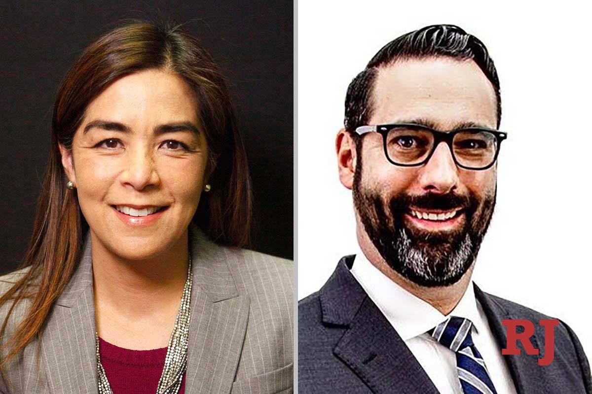 BitaYeager and JacobVillani, candidates for DistrictCourt Department 1 (Las Vegas Review- ...