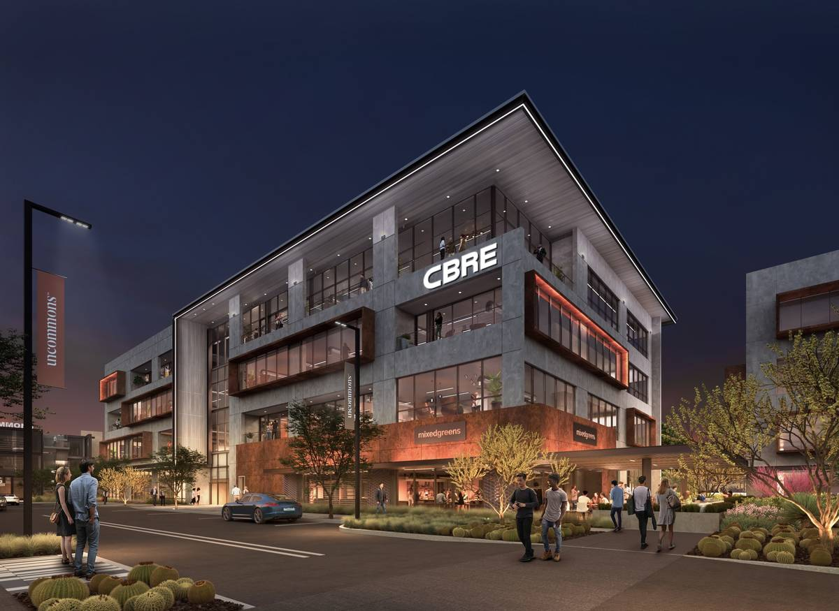Commercial real estate brokerage firm CBRE Group plans to move its Las Vegas office to UnCommon ...