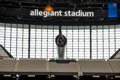 The 85-foot Al Davis Memorial Torch will be lit for the inaugural Las Vegas Raiders opening gam ...