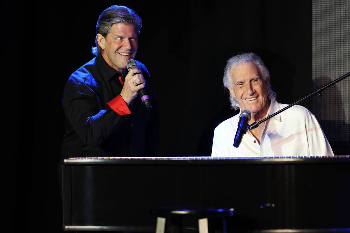 Bill Medley, left, and Bucky Heard of the Righteous Brothers perform during a new streaming ser ...