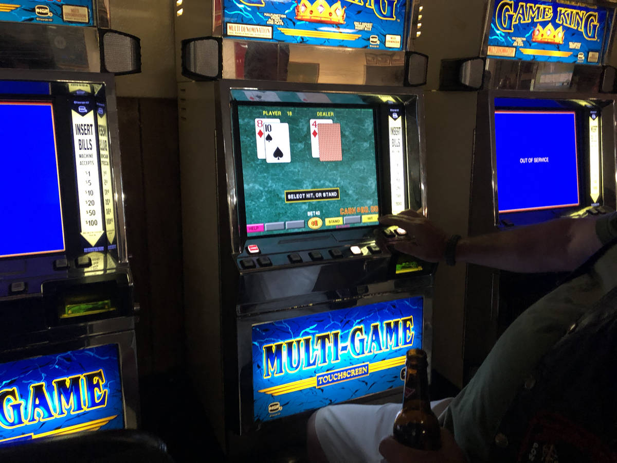 Veterans of Foreign Wars North Las Vegas Post 10047 member, who didn't want to be named, playin ...