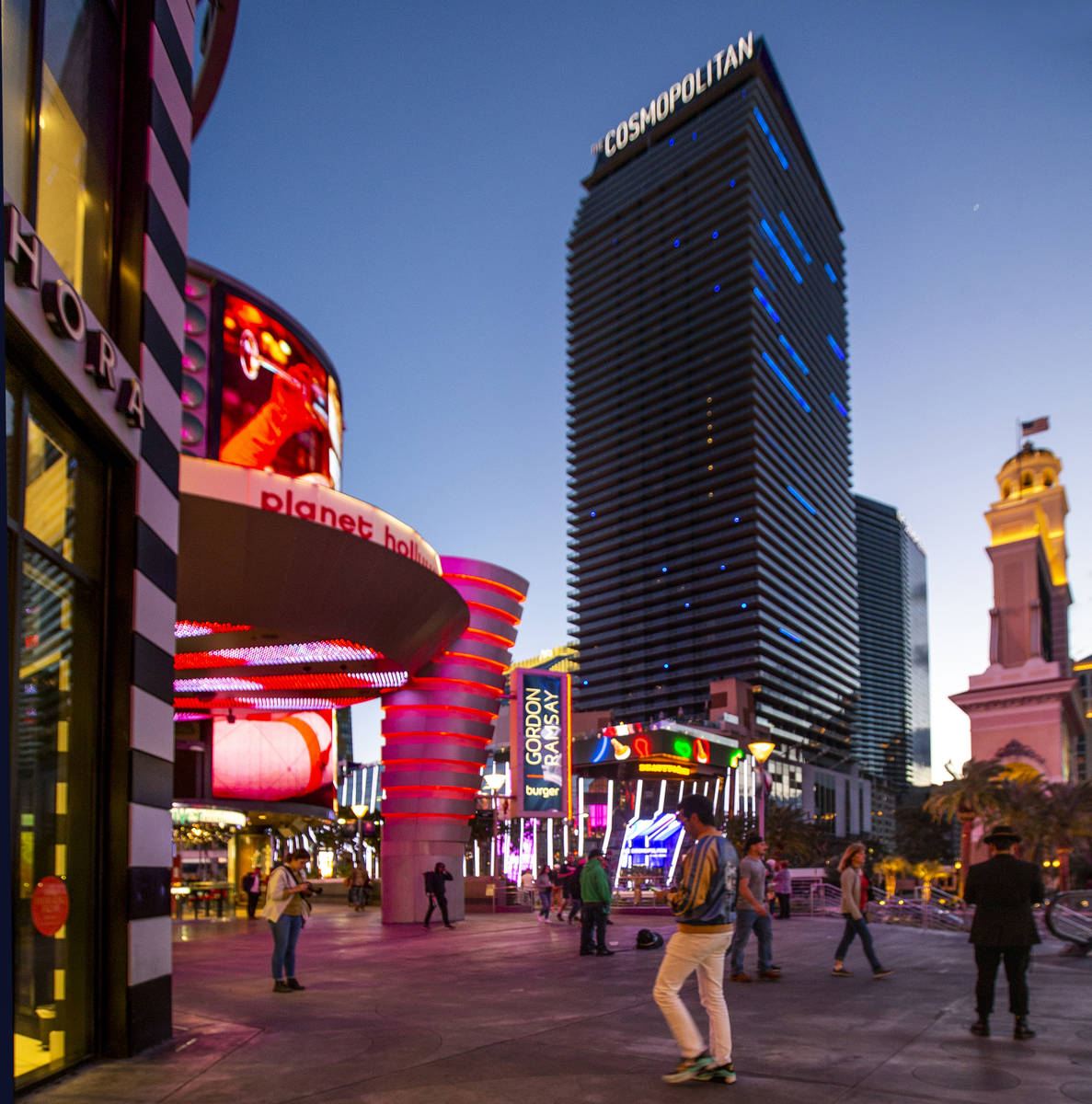 The Cosmopolitan of Las Vegas in March 2020. (L.E. Baskow/Las Vegas Review-Journal) @Left_Eye_I ...