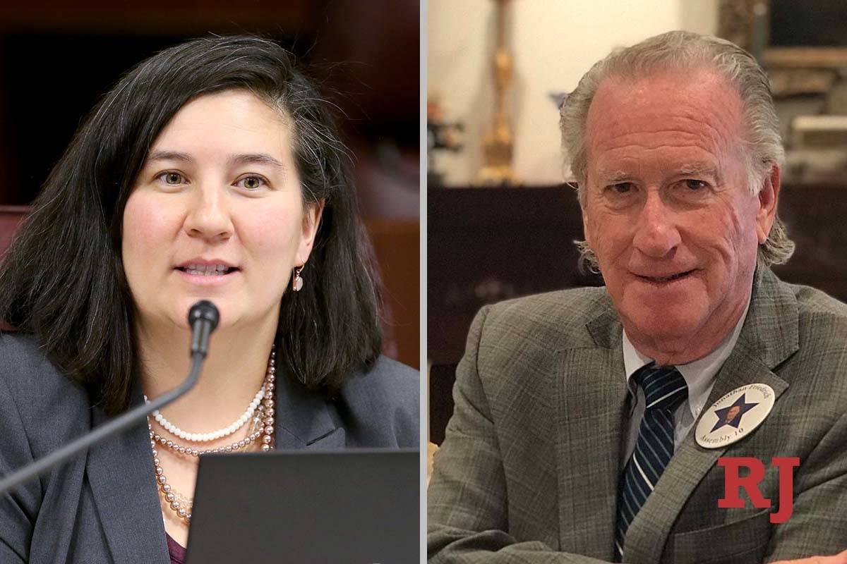 Rochelle Nguyen and Jonathan Friedrich, candidates for Nevada AssemblyDistrict10 (Las Vegas ...
