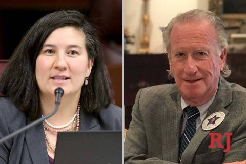 Rochelle Nguyen and Jonathan Friedrich, candidates for Nevada Assembly District 10 (Las Vegas ...