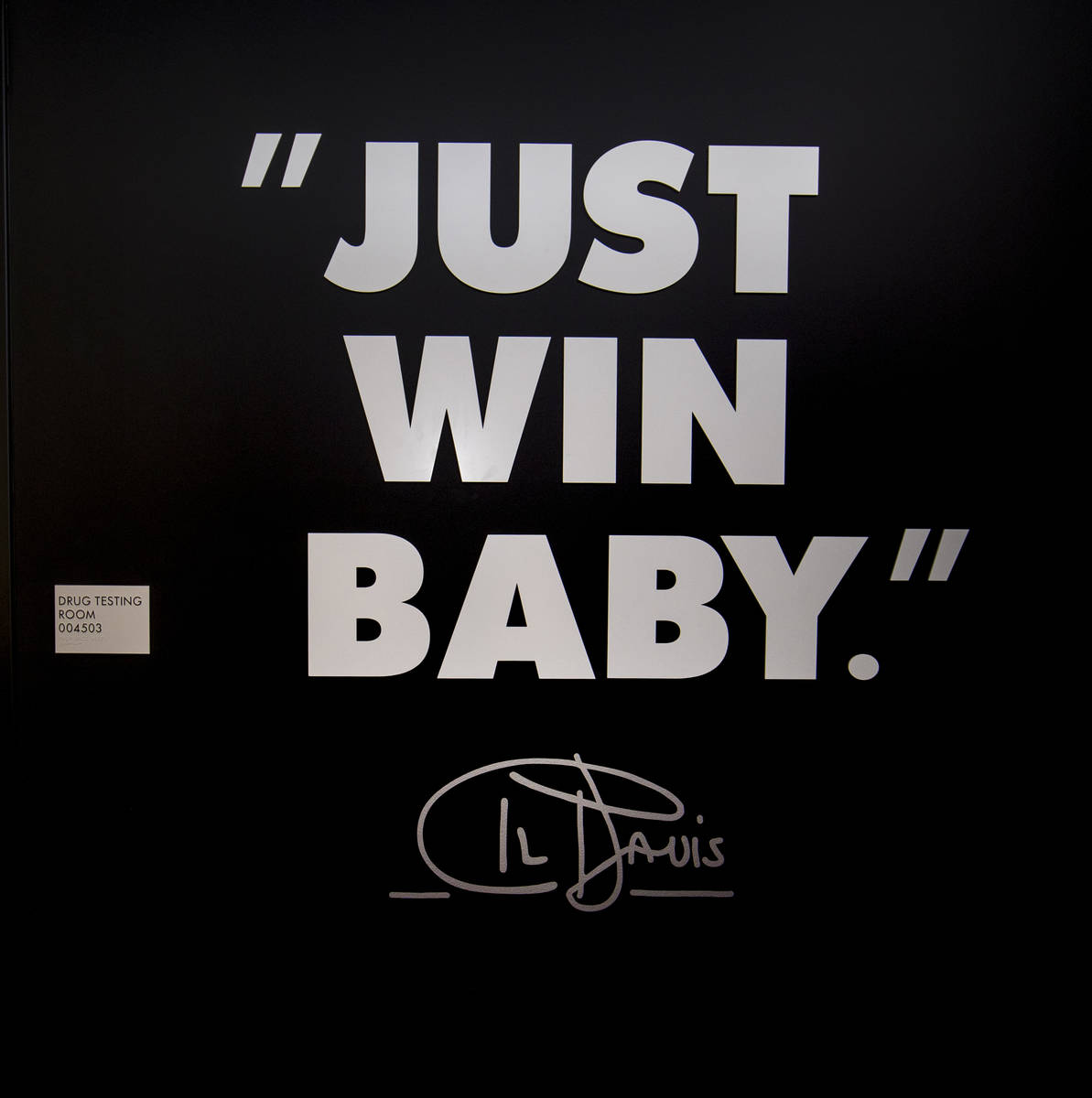 Las Vegas Raiders players will pass a quote by Al Davis in their locker at Allegiant Stadium st ...