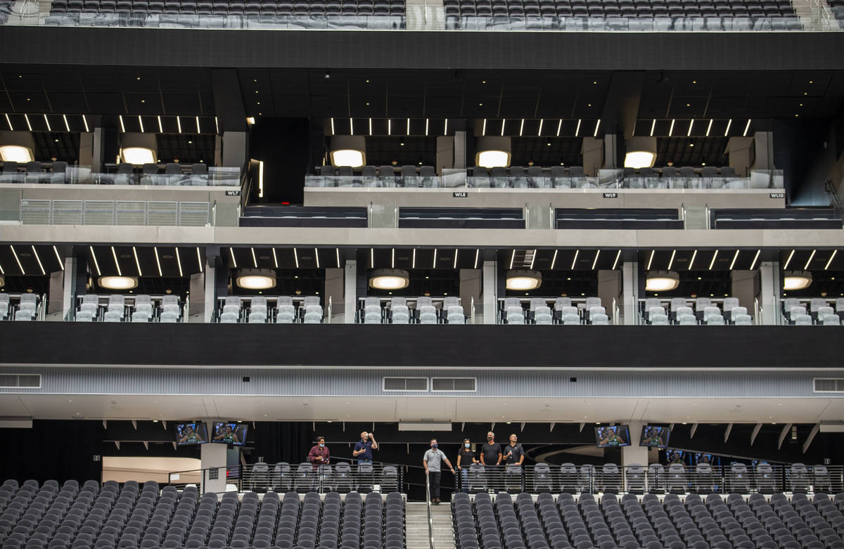 Main and suite levels are ready to go at Allegiant Stadium on Friday, Sept. 18, 2020, in Las V ...