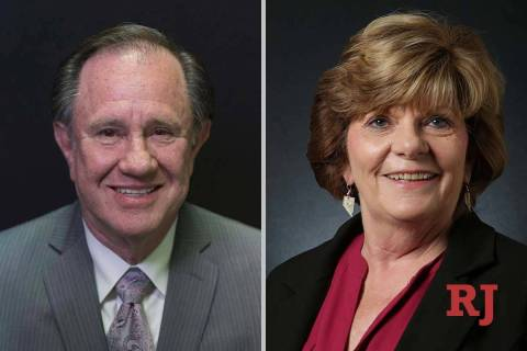 Richard McArthur and Connie Munk, candidates for Nevada Assembly District 4 (Las Vegas Review-J ...