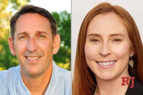 ScottHammond and LizBecker, candidates for Nevada Senate District 18 (Facebook)