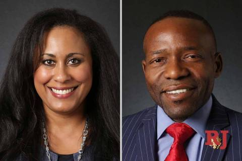 Brittney Miller and Mack Miller, candidates for Nevada Assembly District 5 (Las Vegas Review-Jo ...