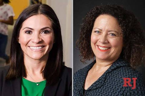 SandraJauregui, left, and VictoriaDaCosta, candidates for Nevada AssemblyDist ...