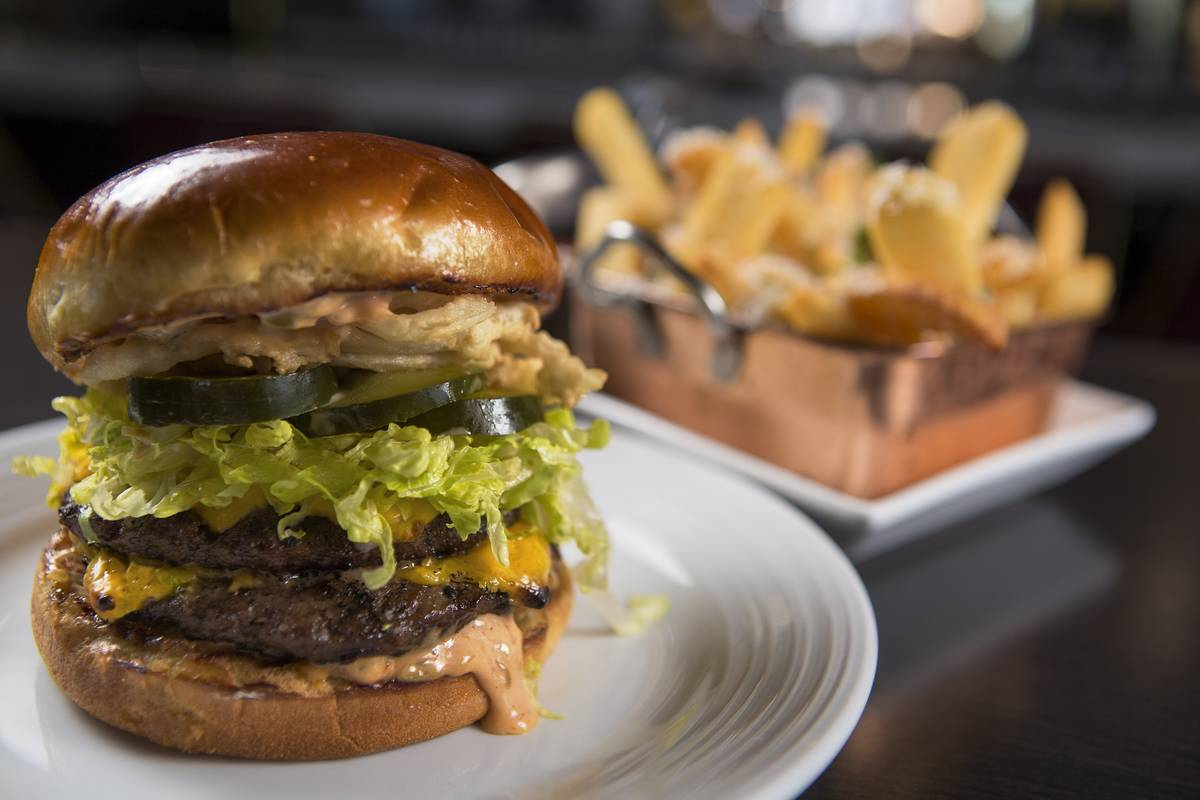 Oscar's Black Angus Burger, available Friday in the lounge. (The Plaza)