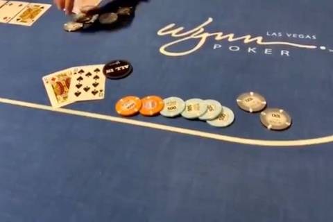 "Footage from a poker tournament at Wynn Las Vegas is included in a YouTube video posted by ""vlo ..."