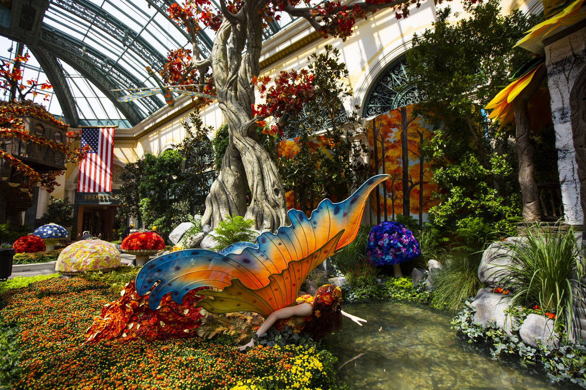 """A fairy is part of the """"Into the Woods"""" fall display at the Bellagio Conservatory and Botanical ..."""