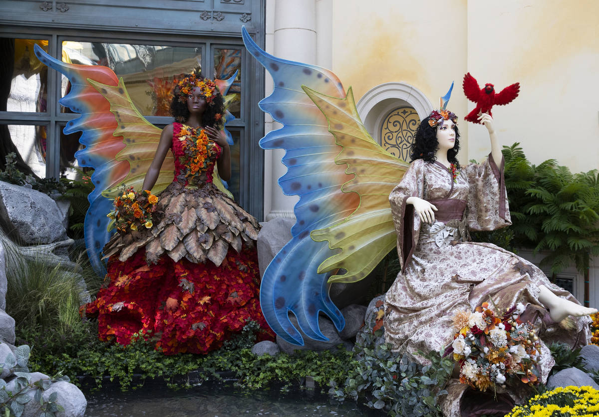 Enchanted fairies are displayed at the new fall display called ÒInto the WoodsÓ, at t ...