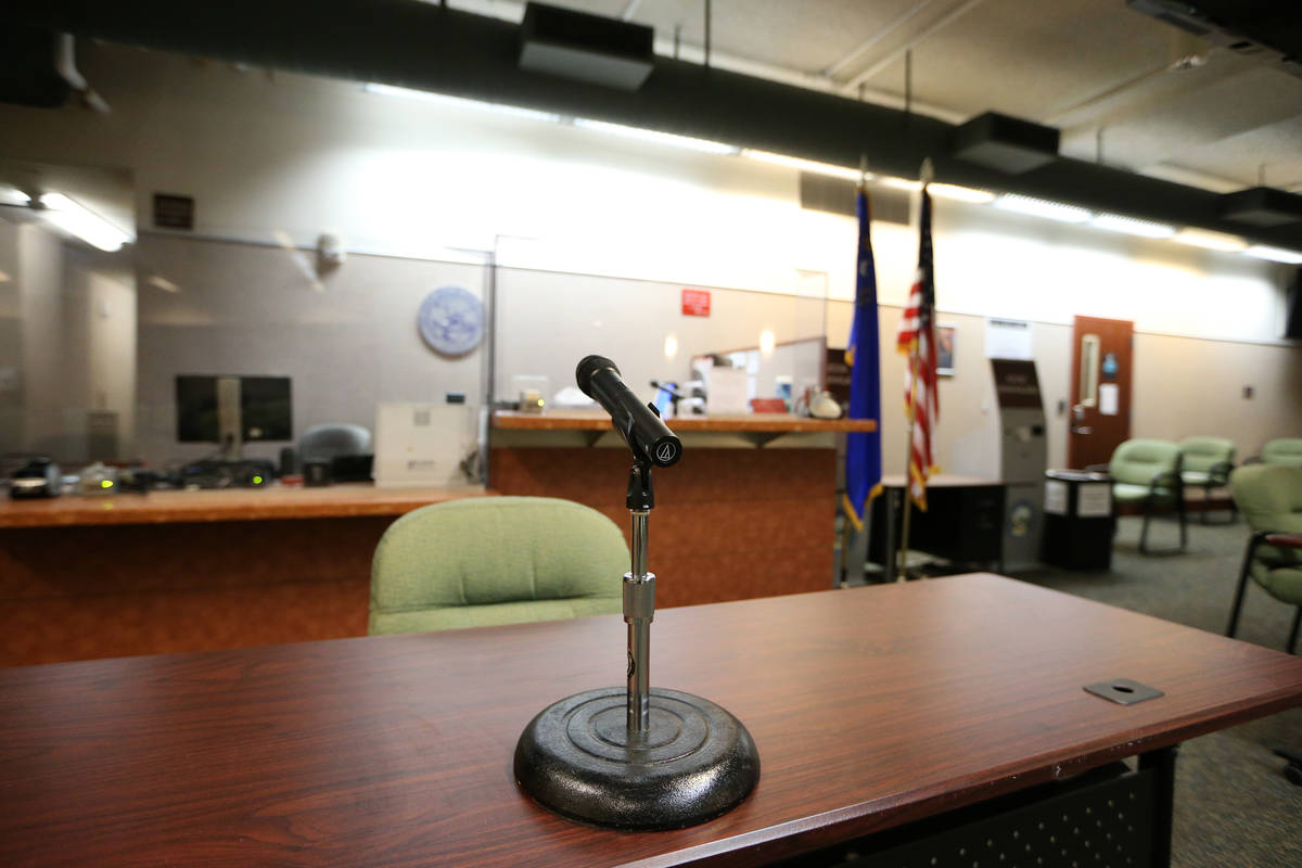 The updated Regional Justice Center jury services room, which now complies with state safety pr ...