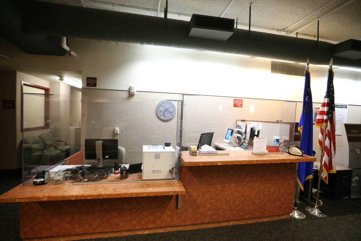 Newly installed plexiglass to protect staff and the general public inside the updated Regional ...