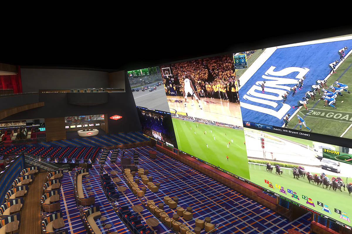 Artist's rendering of Circa Sportsbook. (Courtesy photo)