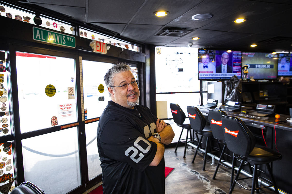 John Vizcarra, director of operations at the Stage Door Casino and market, stands in the shutte ...