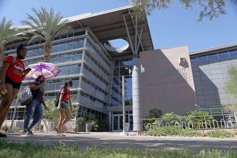 UNLV'S Student Recreation and Wellness Center in Las Vegas, Friday, Sept. 4, 2020. (Erik Verduz ...