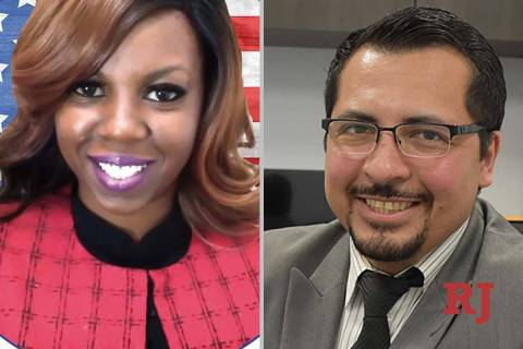Natasha Bousley and Edgar Flores, candidates for Nevada Assembly District 28 (Facebook/El ...