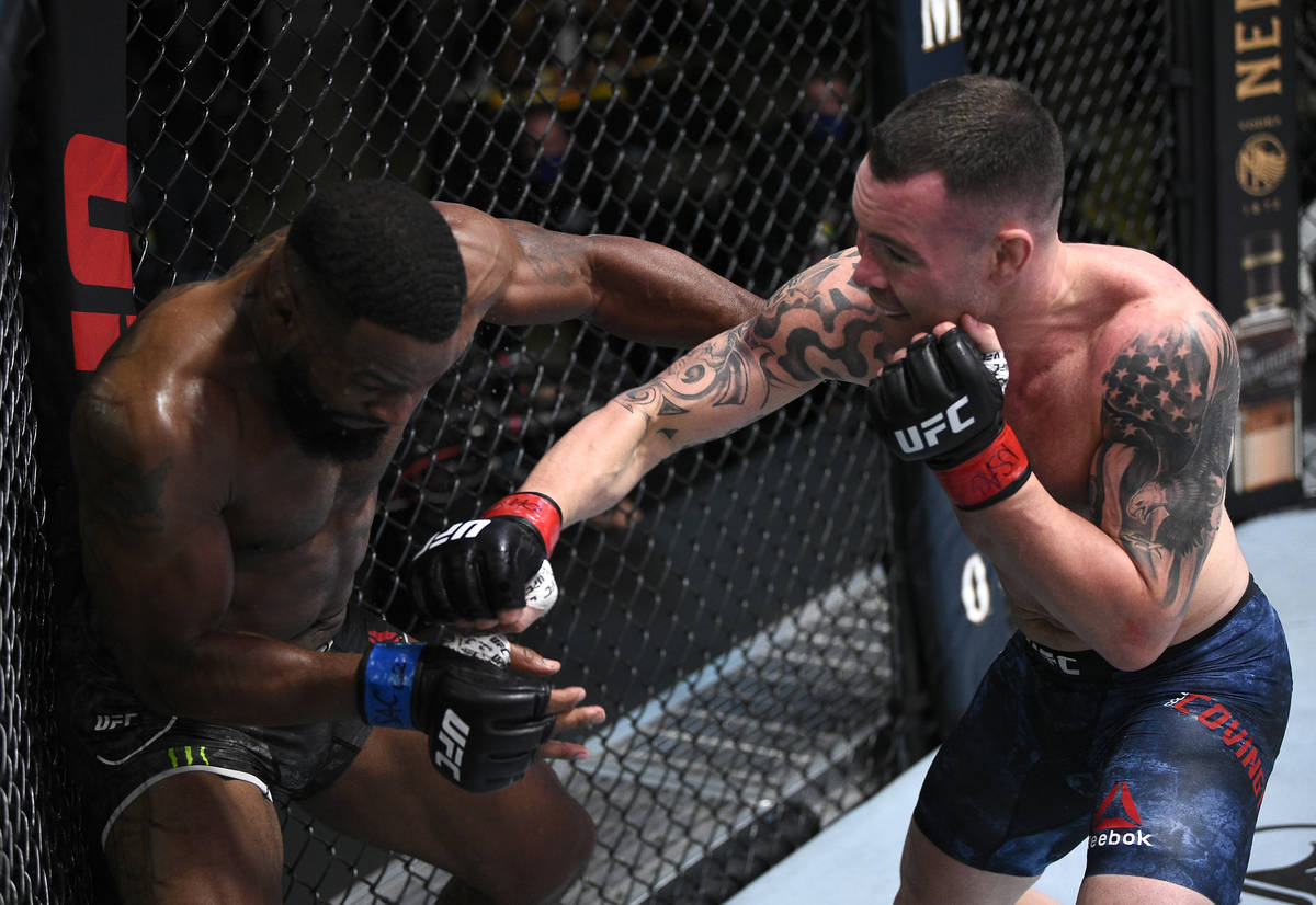 Colby Covington defeats Tyron Woodley by TKO