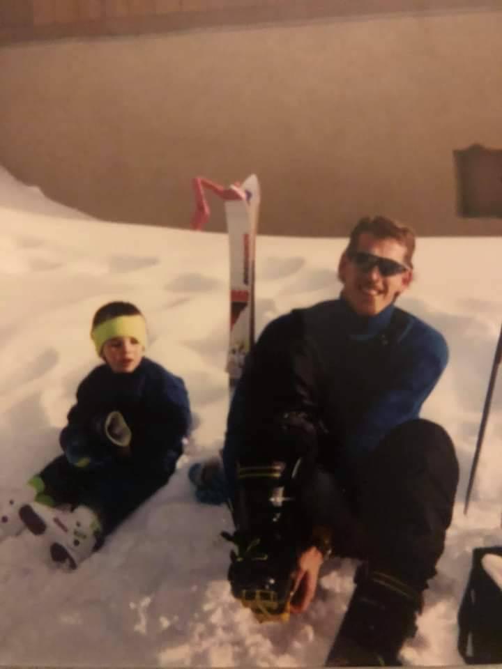 Chris and Greg Peistrup skiing in 1991. (Courtesy Kristin Bell-Peistrup)