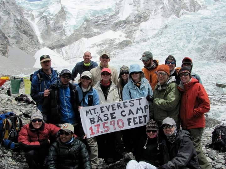 Greg Peistrup, middle back, with his wilderness medicine group in 2010. (Courtesy Kristin Bell- ...