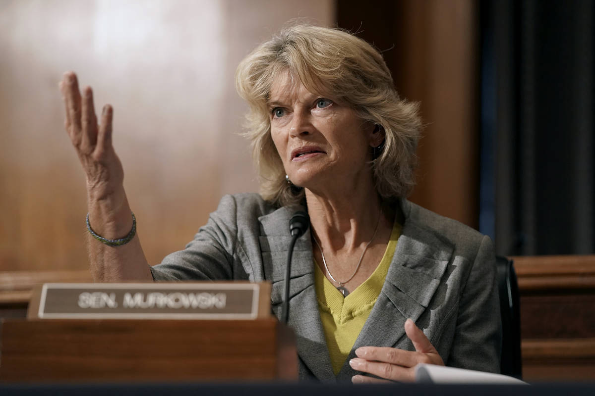 Sen. Lisa Murkowski, R-Alaska, speaks during a Senate Health, Education, Labor and Pensions Com ...