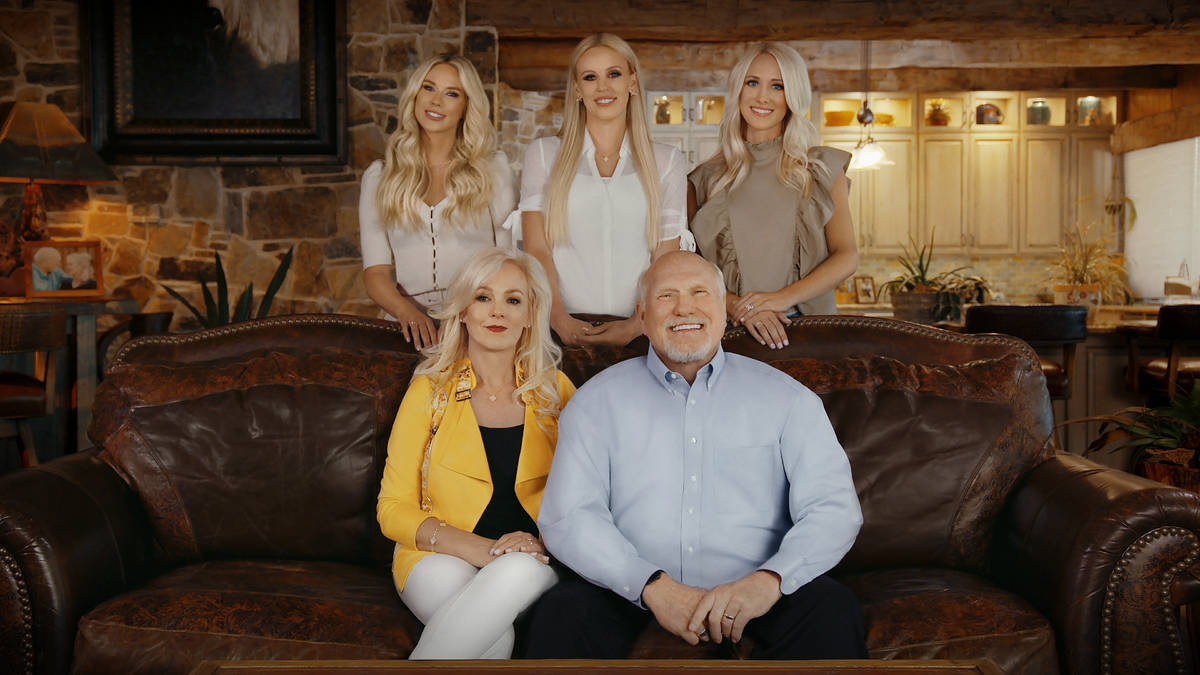 Terry and Tammy Bradshaw, front, are shown with their daughters, from left, Rachel Bradshaw, La ...