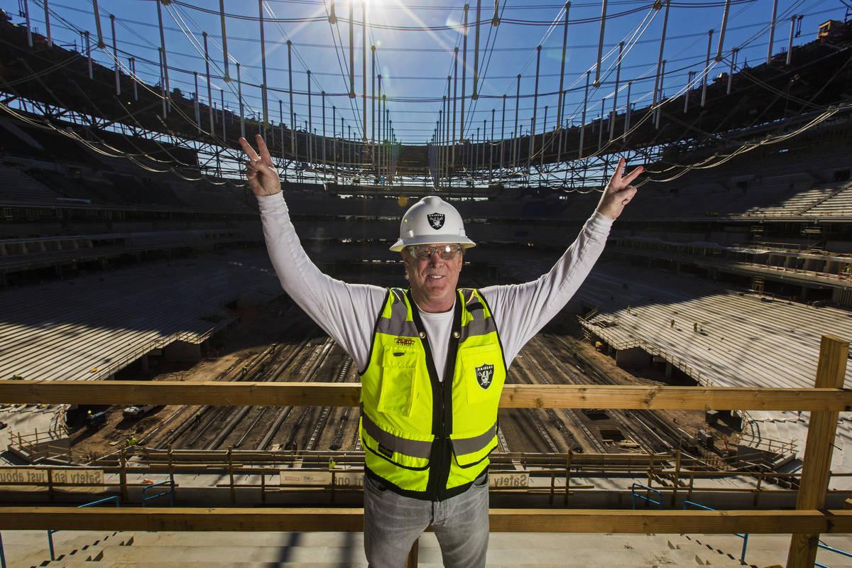 Raiders owner Mark Davis at Allegiant Stadium on Thursday, Dec. 19, 2019, in Las Vegas. (Benjam ...