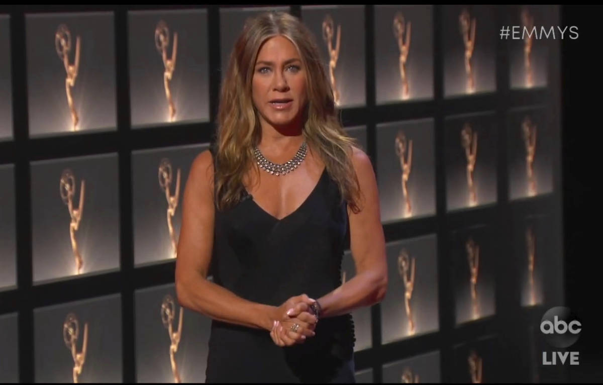 In this video grab captured on Sept. 20, 2020, courtesy of the Academy of Television Arts & ...