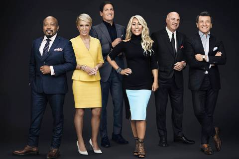 SHARK TANK - Daymond John, Barbara Corcoran, Mark Cuban, Lori Greiner, Kevin O'Leary, and Rober ...