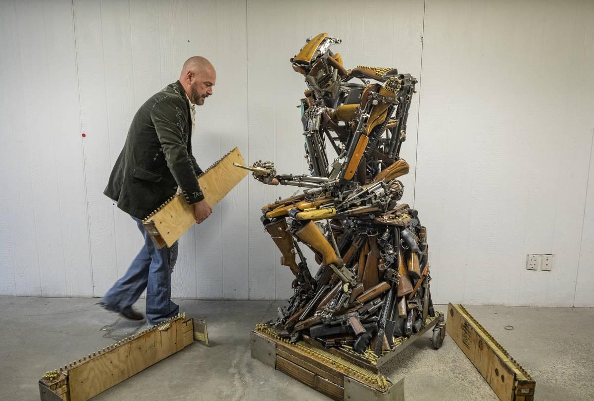 David Fay's sculpture commissioned by Indecline titled 'Second Thought,' created in honor of th ...