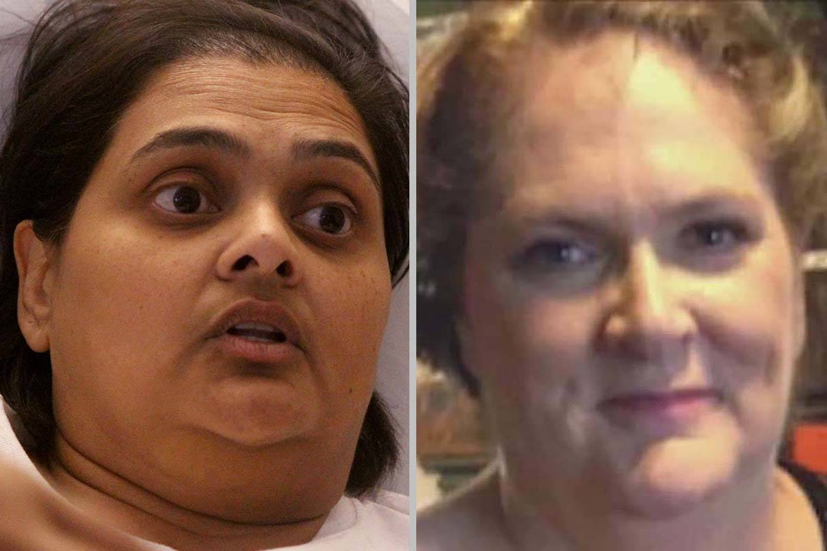 Samanta Arjune, left, and Kimberly Gervais were wounded in the mass shooting on the Las Vegas S ...