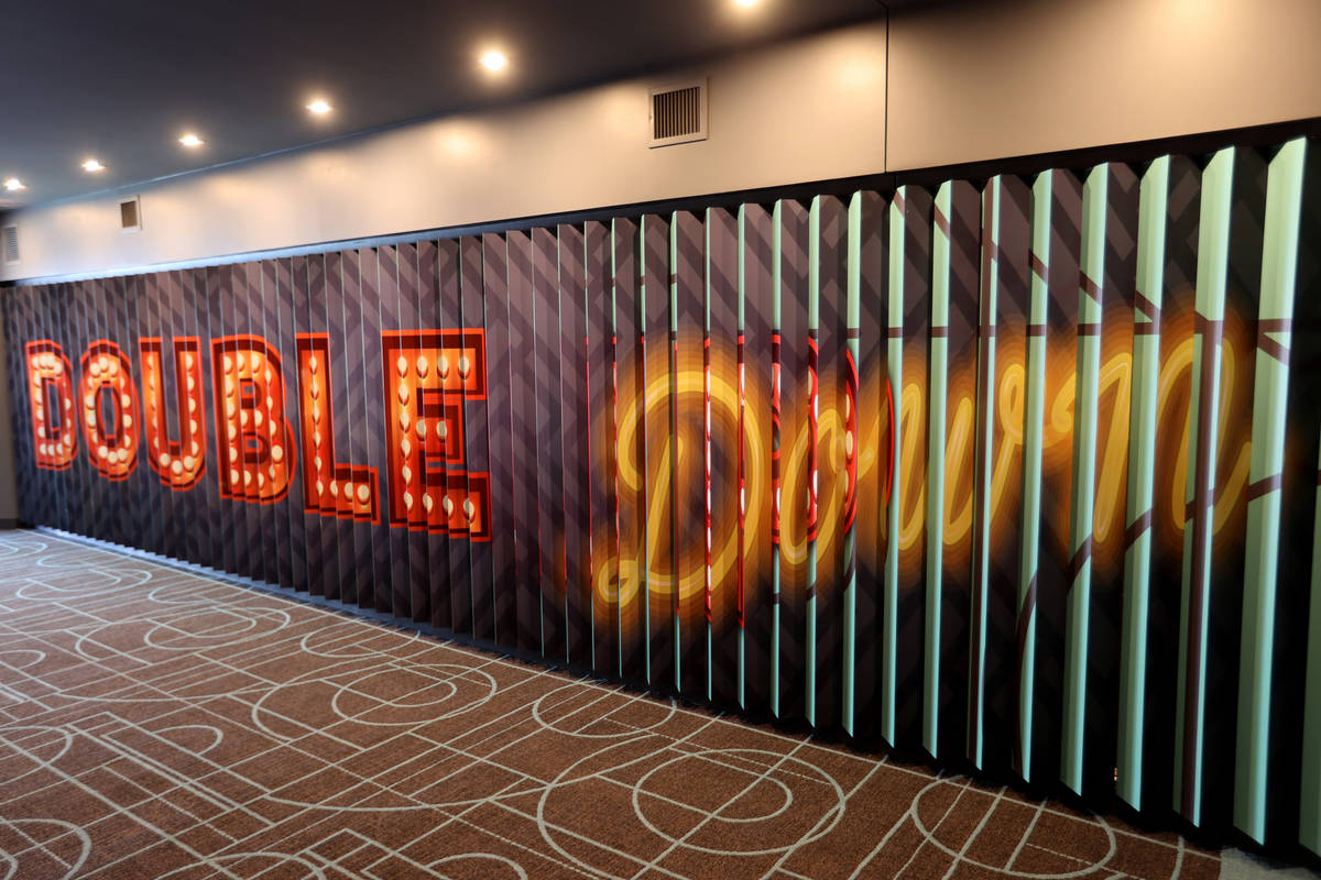The third floor elevator lobby in the 495-room Gallery Tower at the Downtown Grand in Las Vegas ...