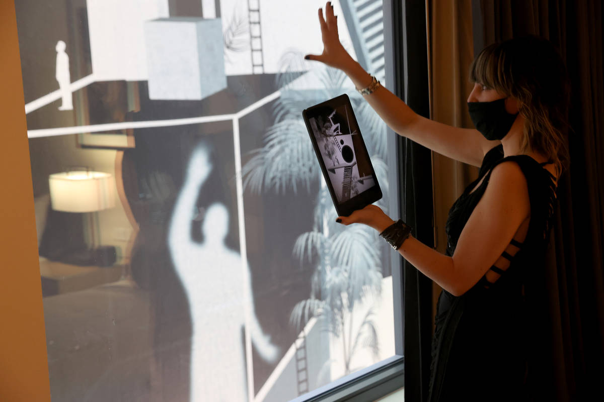Multimedia artist Camila Magrane brings a mural outside a guest room to life using her augmente ...