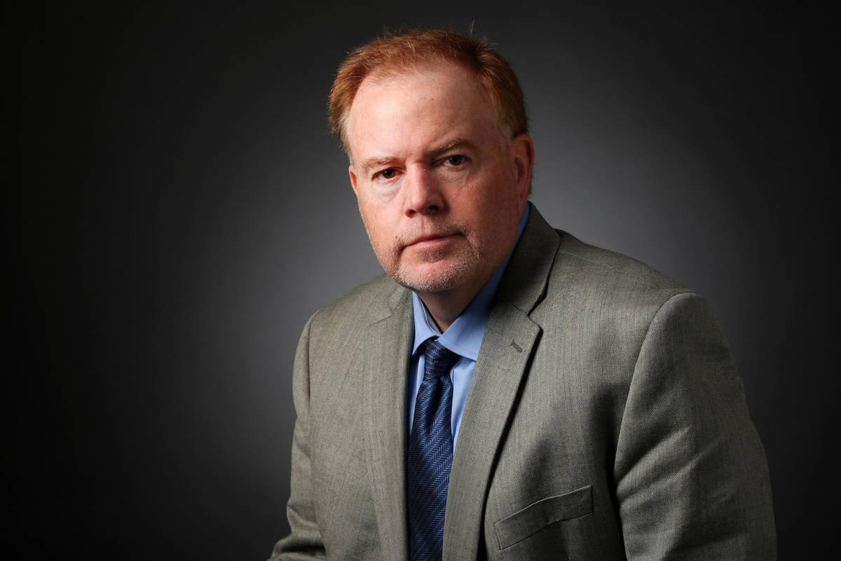 Ed Graney, sports columnist, poses for a portrait at the Las Vegas Review-Journal photos studi ...