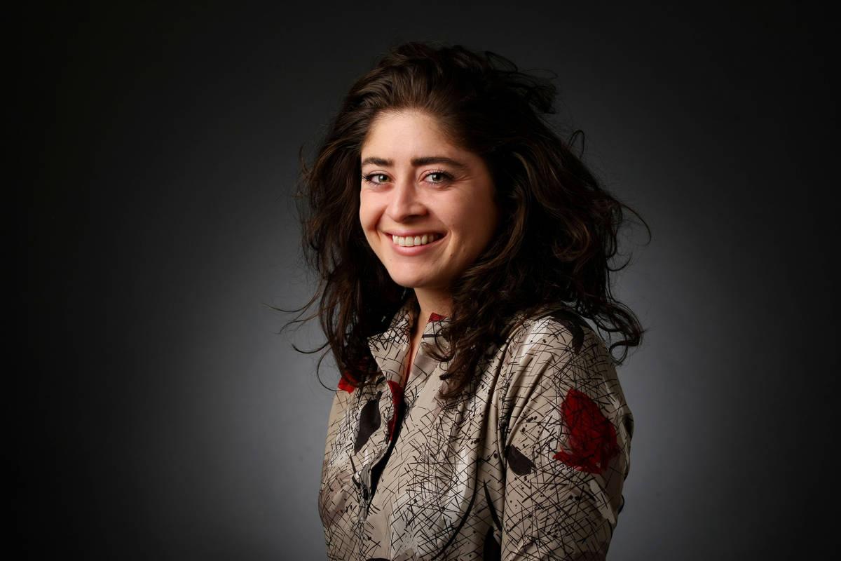 Rachel Aston, videographer, poses for a portrait at the Las Vegas Review-Journal photos studio, ...