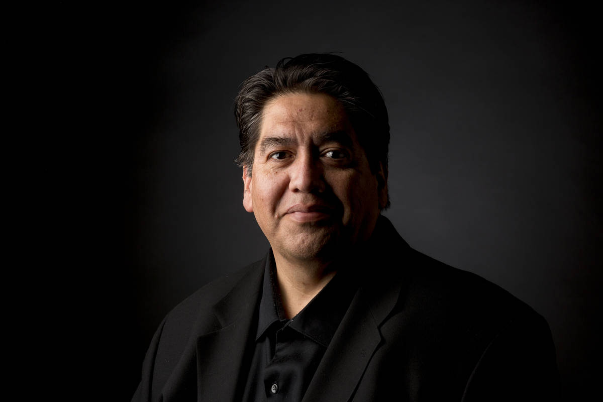 Editorial artist Severiano Galvan at the Las Vegas Review-Journal Studio in Las Vegas, Wednesda ...