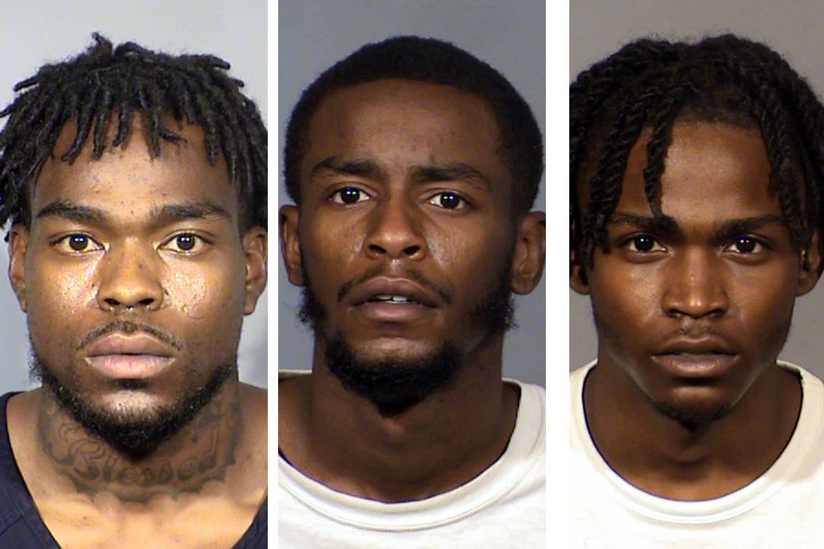 Jalondon Parker, from left, Anthony Wade and Derrion Cox (Las Vegas Metropolitan Police Department)