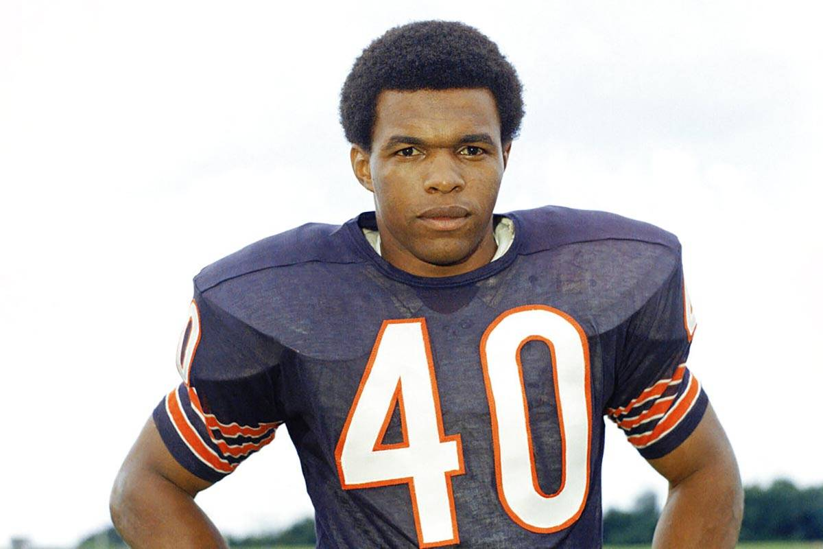 A 1970 file photo showing Chicago Bears football player Gale Sayers. Hall of Famer Gale Sayers, ...