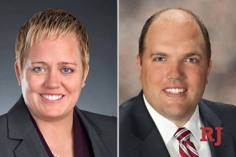 Tara Clark Newberry and Jacob Reynolds, candidates for District Court Department 21 (Face ...