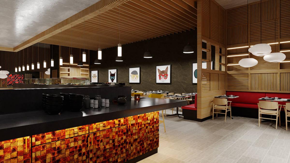 An artist rendering of 8 East, set to open October 28 at Circa. (Steelman Partners)