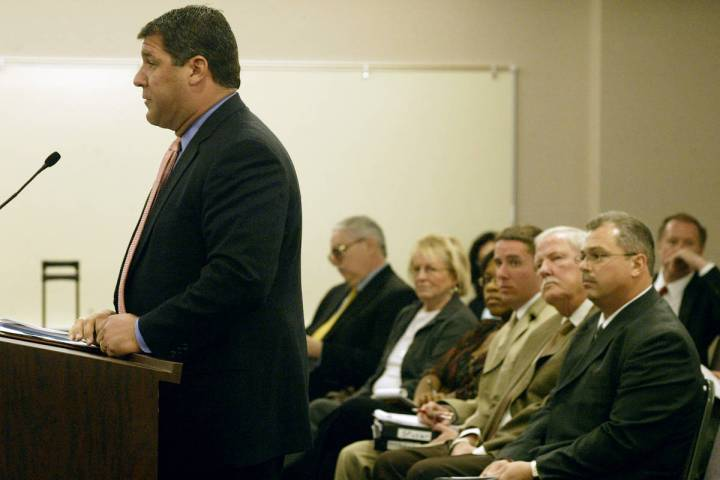 General Counsel for Herbst Gaming, Sean Higgins, seeks preliminary approval to buy the Primm ca ...