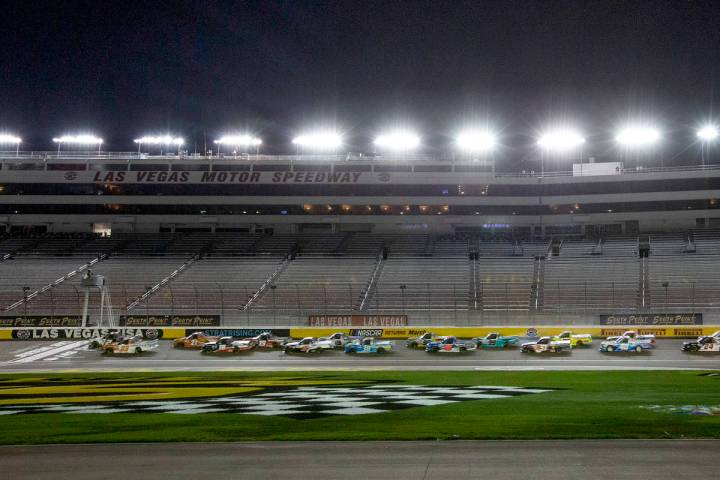 The 24th Annual NASCAR Westgate 200 is underway without an audience at Las Vegas Motor Speedway ...