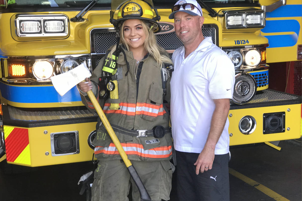 This undated photo shows Dean McAuley, a firefighter of Valley Regional Fire Authority (VRFA) a ...