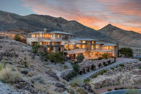 This Summerlin home in an enclave in The Ridges known for one of the highest elevations in the ...