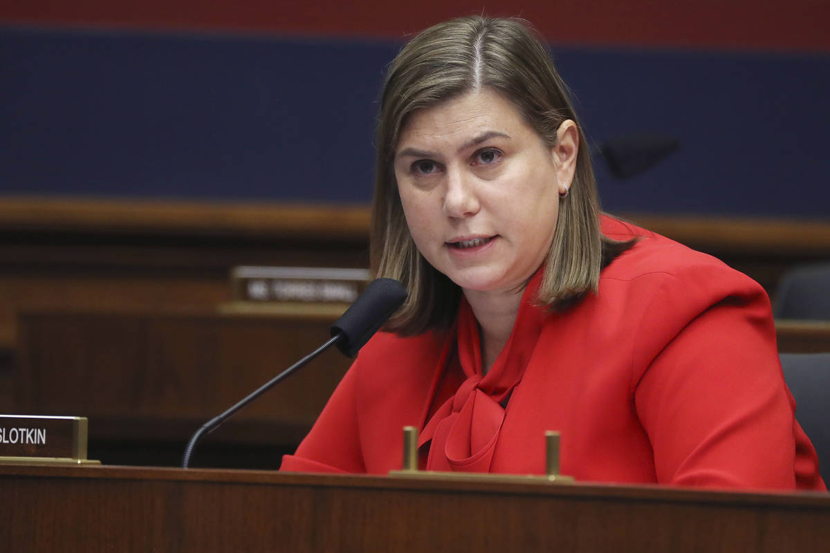 Rep. Elissa Slotkin, D-Mich., questions witnesses during a House Committee on Homeland Security ...