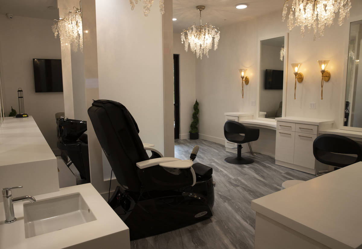 A spa and salon at the Tuscan Highlands apartment complex under construction near the M Resort ...