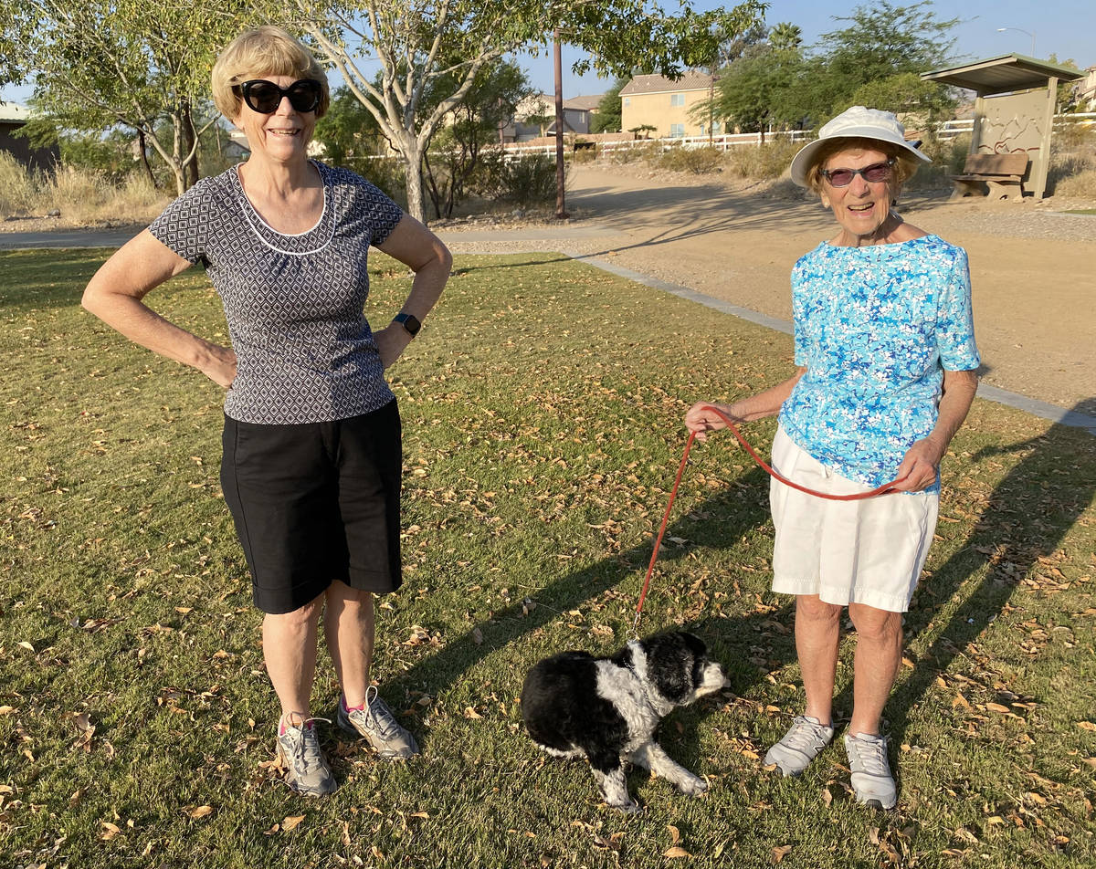 Katie Craven, left, 67, and her mother, Ruth Sidorowicz, 91, with Sidorowicz's cocker spaniel G ...